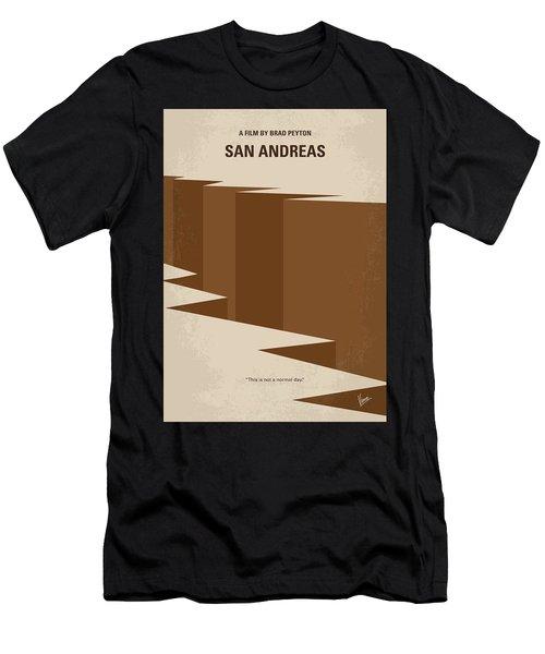 No810 My San Andreas Minimal Movie Poster Men's T-Shirt (Athletic Fit)