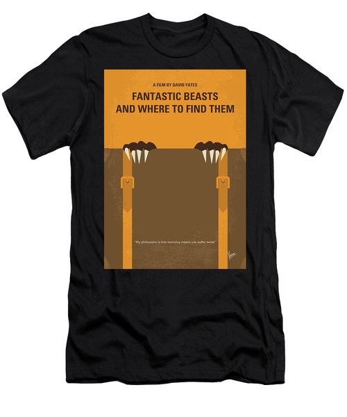No962 My Fantastic Beasts And Where To Find Them Minimal Movie Poster Men's T-Shirt (Athletic Fit)