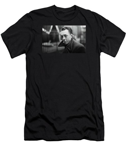 Nobel Prize Winning Writer Albert Camus  Unknown Date-2015           Men's T-Shirt (Slim Fit) by David Lee Guss