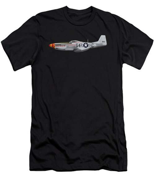 Nooky Booky I V - P-51 D Mustang Men's T-Shirt (Athletic Fit)