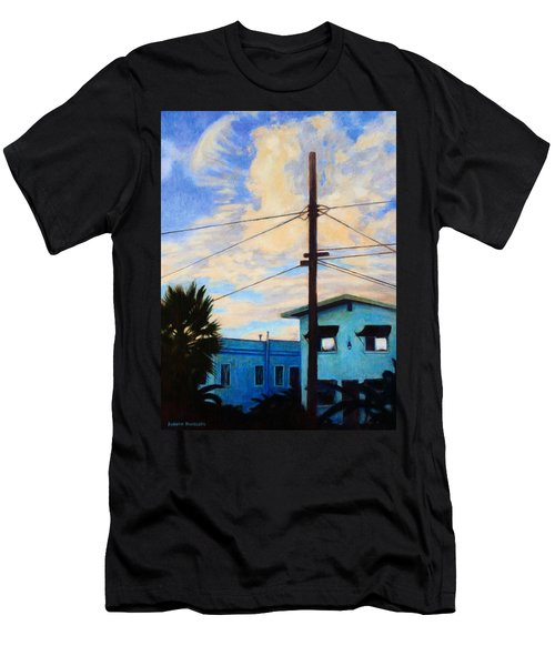 Men's T-Shirt (Slim Fit) featuring the painting Normal Ave by Andrew Danielsen