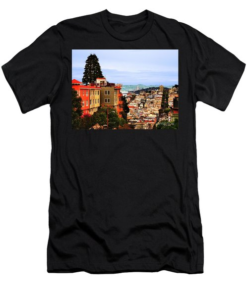 Looking Toward North Beach Men's T-Shirt (Athletic Fit)