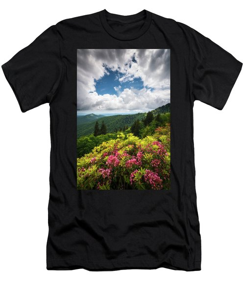 North Carolina Appalachian Mountains Spring Flowers Scenic Landscape Men's T-Shirt (Athletic Fit)