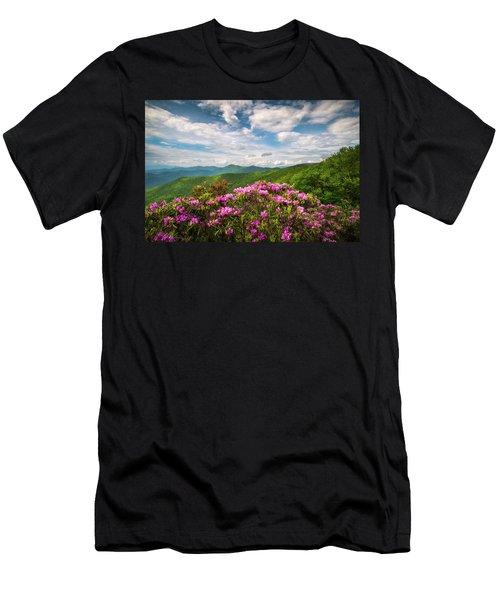 North Carolina Spring Flowers Mountain Landscape Blue Ridge Parkway Asheville Nc Men's T-Shirt (Athletic Fit)