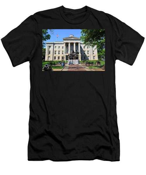 North Carolina State Capitol Building With Statue Men's T-Shirt (Athletic Fit)