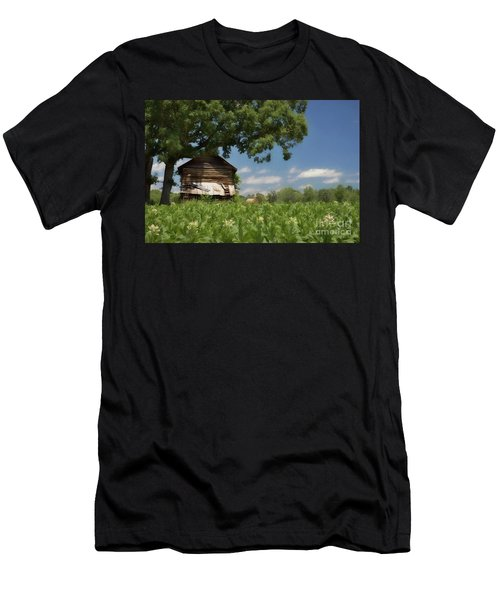 Men's T-Shirt (Slim Fit) featuring the photograph North Carolina Tobacco by Benanne Stiens