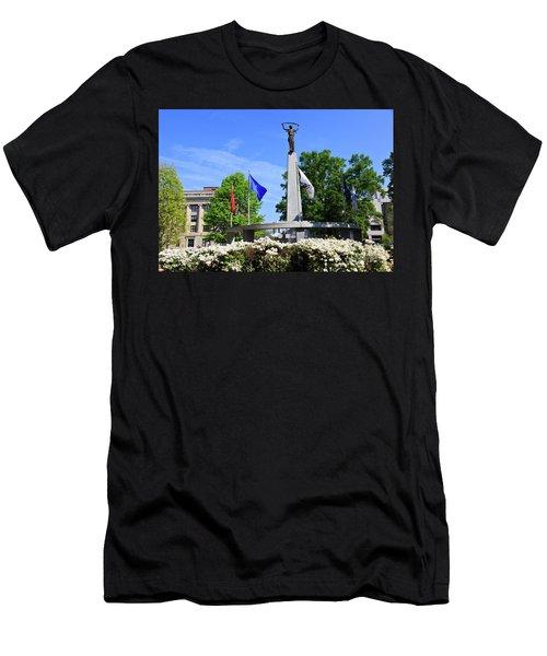 North Carolina Veterans Monument Men's T-Shirt (Athletic Fit)