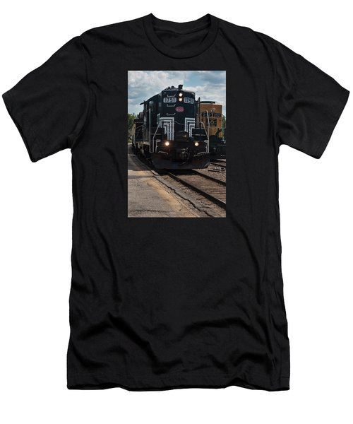 Conway Scenic Railroad - New Hampshire Men's T-Shirt (Slim Fit) by Suzanne Gaff