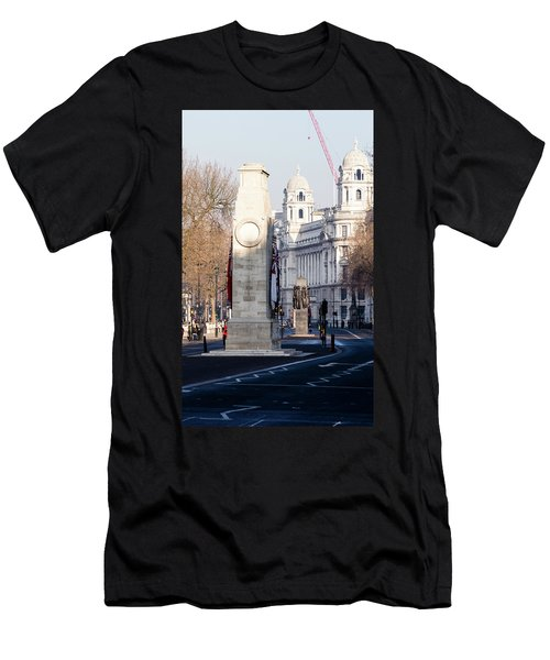 North Facade Of Cenotaph War Memorial Whitehall London Men's T-Shirt (Athletic Fit)