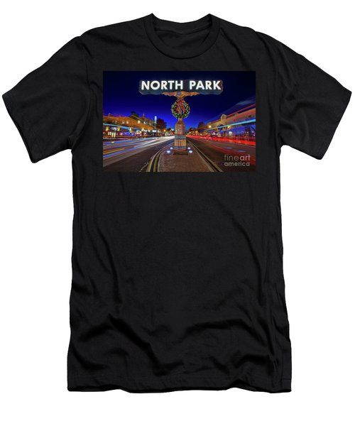 Men's T-Shirt (Athletic Fit) featuring the photograph North Park Christmas Rush Hour by Sam Antonio Photography