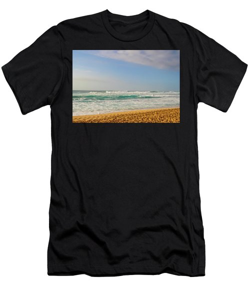 North Shore Waves In The Late Afternoon Sun Men's T-Shirt (Athletic Fit)