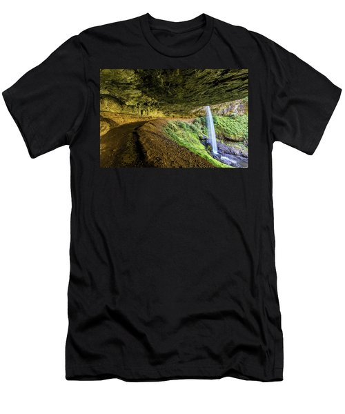 Men's T-Shirt (Athletic Fit) featuring the photograph North Silver Falls Oregon by Pierre Leclerc Photography