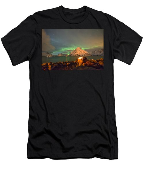 Spectacular Night In Lofoten 3 Men's T-Shirt (Athletic Fit)