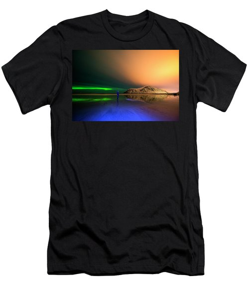 Northern Light In Lofoten, Nordland 4 Men's T-Shirt (Athletic Fit)
