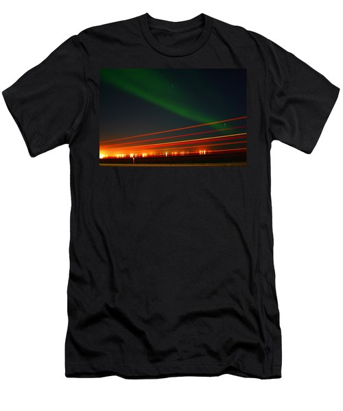 Northern Lights Men's T-Shirt (Athletic Fit)