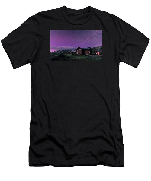 Northern Lights On Boreas Pass Men's T-Shirt (Slim Fit) by Michael J Bauer