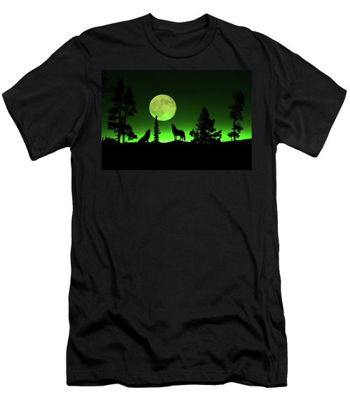 Men's T-Shirt (Athletic Fit) featuring the photograph Northern Lights by Shane Bechler