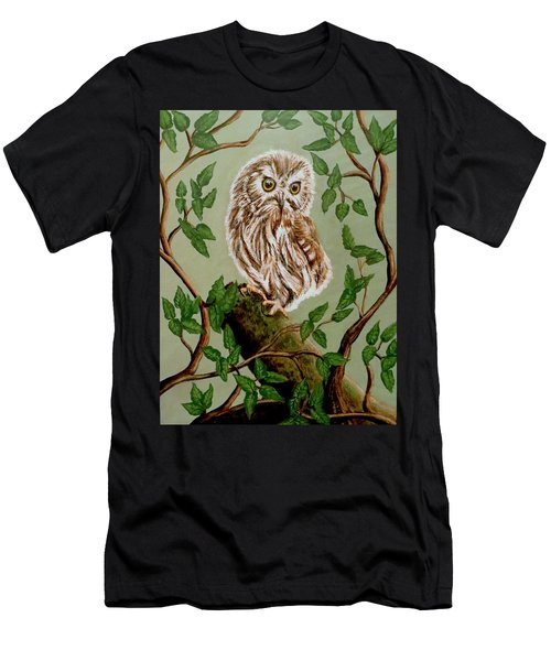 Northern Saw-whet Owl Men's T-Shirt (Athletic Fit)