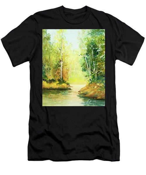 Northwoods Scene Men's T-Shirt (Athletic Fit)