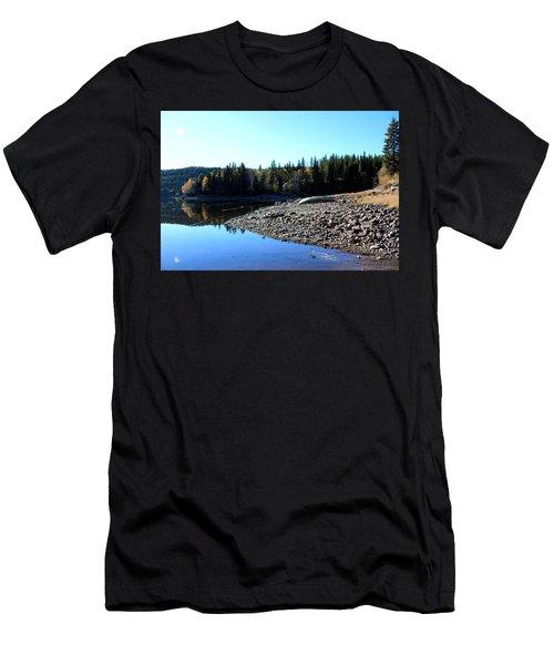Norwegian Autumn Landscape  Men's T-Shirt (Athletic Fit)