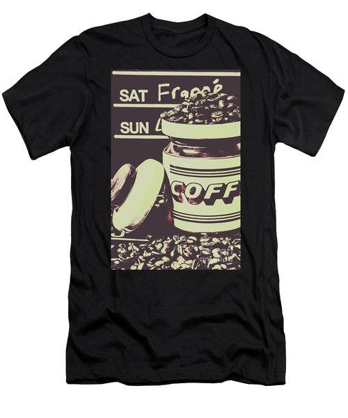 Nostalgic Cafe Art Men's T-Shirt (Athletic Fit)