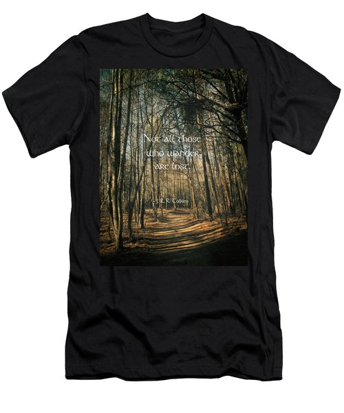 Not All Those Who Wander Men's T-Shirt (Slim Fit) by Jessica Brawley