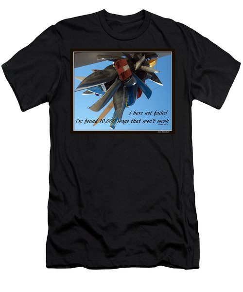 Not Failed Men's T-Shirt (Slim Fit) by Irma BACKELANT GALLERIES