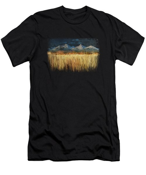 Men's T-Shirt (Athletic Fit) featuring the painting Not Far Away by Ivana Westin
