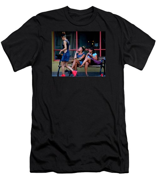 Not Looking  Men's T-Shirt (Slim Fit) by David Gilbert