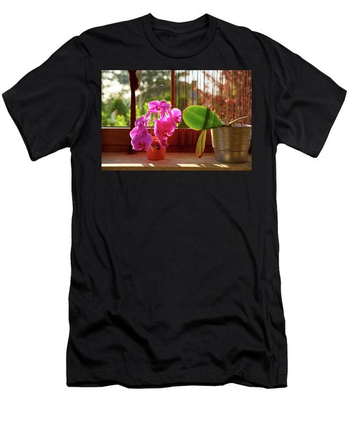 Men's T-Shirt (Athletic Fit) featuring the photograph Nother Flower by Tgchan