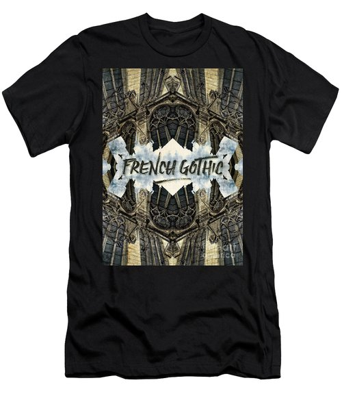 Notre-dame Cathedral French Gothic Architecture Paris France Men's T-Shirt (Athletic Fit)