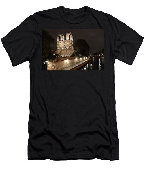 Notre Dame Cathedral From Petit Pont Men's T-Shirt (Athletic Fit)
