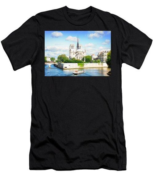 Notre Dame Cathedral, Paris France Men's T-Shirt (Athletic Fit)