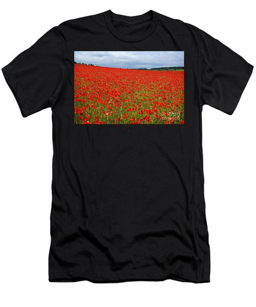 Nottinghamshire Poppy Field Men's T-Shirt (Athletic Fit)