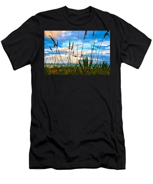 November Day At The Beach In Florida Men's T-Shirt (Athletic Fit)