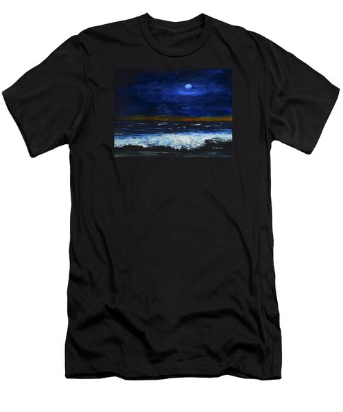 November Sunset At The Beach Men's T-Shirt (Athletic Fit)