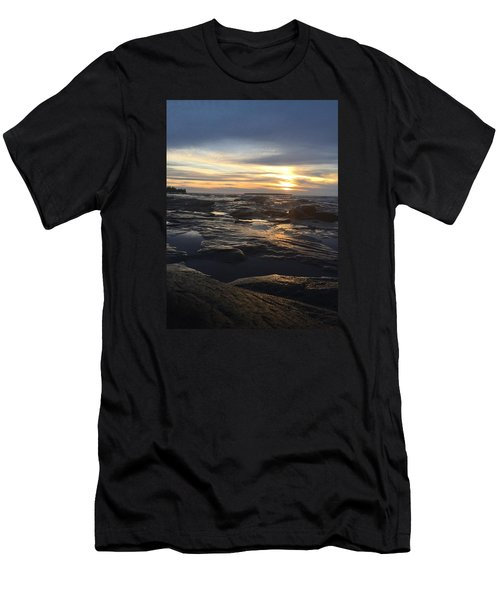 November Sunset On Lake Superior Men's T-Shirt (Athletic Fit)