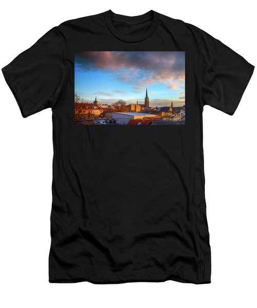 Novi Sad Roofs Lit By The Setting Sun Men's T-Shirt (Athletic Fit)
