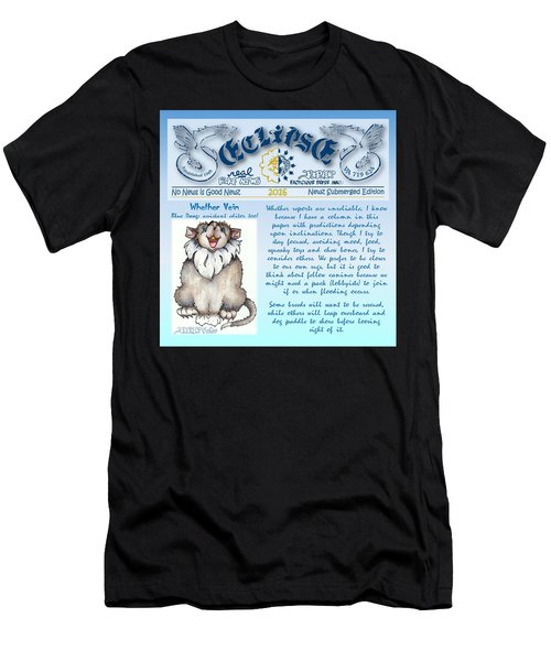 Real Fake News Blue Dawg Excerpt Men's T-Shirt (Athletic Fit)