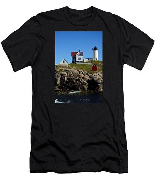 Nubble Lighthouse 2 Men's T-Shirt (Athletic Fit)