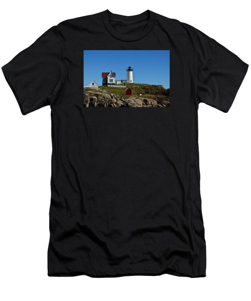 Nubble Lighthouse In Ogunquit  Men's T-Shirt (Athletic Fit)