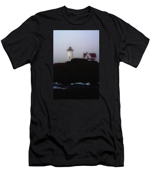 Nubble Light House Men's T-Shirt (Athletic Fit)