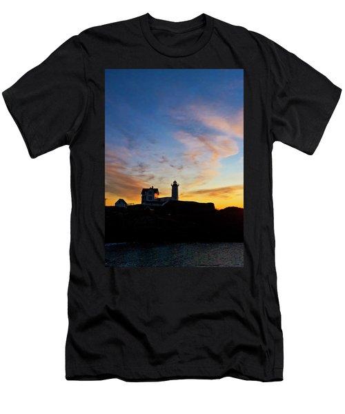 Nubble Lighthouse Sunrise 3 Men's T-Shirt (Athletic Fit)