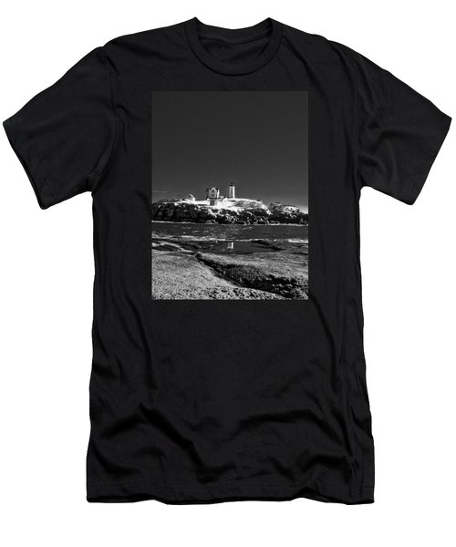 Nubble Lighthouse - York - Maine Men's T-Shirt (Athletic Fit)