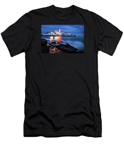 Nubble Lights Men's T-Shirt (Slim Fit) by Robert Clifford