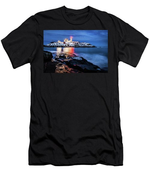 Nubble Lights Men's T-Shirt (Athletic Fit)