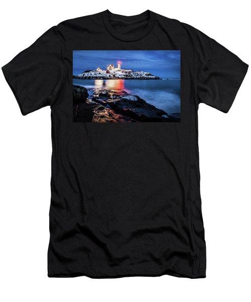Nubble Lights Men's T-Shirt (Athletic Fit)