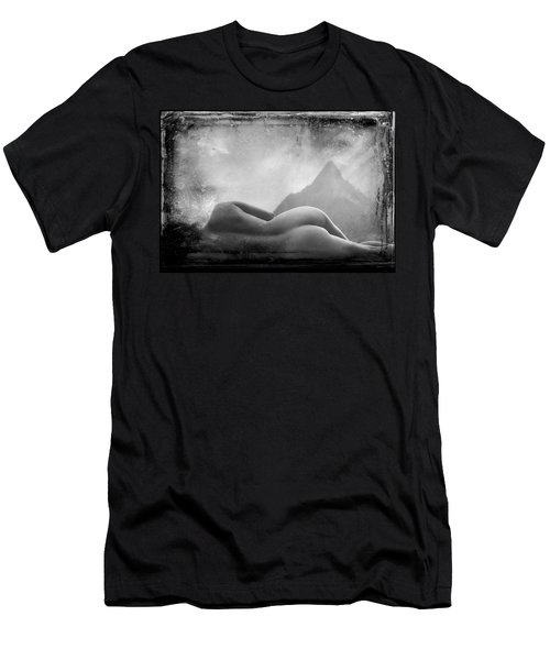 Men's T-Shirt (Athletic Fit) featuring the photograph Nude At Chinaman's Hat, Pali, Hawaii by Jennifer Wright