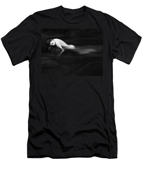Nude Woman In River Men's T-Shirt (Athletic Fit)