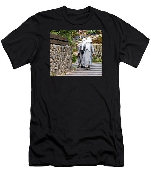 Nuns In A Row Men's T-Shirt (Athletic Fit)
